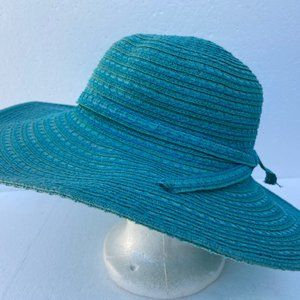 Accessories - Sun Beach Hat Blue Paper Cotton Bow